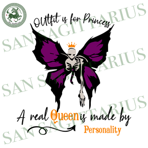 A Real Queen Is Made By Personality, Halloween Svg, Happy Halloween, Butterfly Svg, Butterfly Girl Svg, Butterfly Queen Shirts, Halloween Shirt, Scary Halloween, Halloween Svg, Halloween Vect