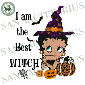 I Am The Best Witch, Halloween Svg, Betty Boop Svg, Pumpkin Svg, Bat Svg, Betty Boop Halloween, Happy Halloween, Halloween Gift, Betty Boop, Witch svg, Witch shirt, gift for Witch, Pumpkin gi