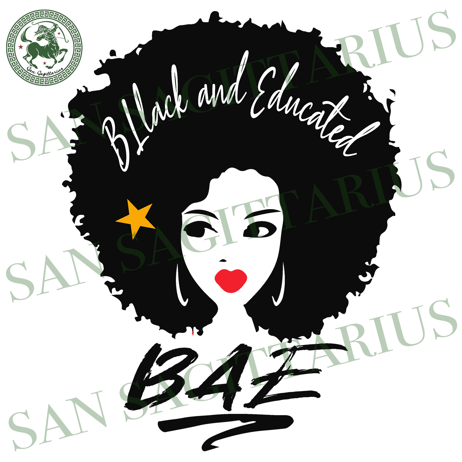 Black And Educated BAE, Black Girl Svg, Afro Svg, Feminism Svg, Racism Svg, Girl Power, Afro Girl, Afro, Afro Svg, Afro Hair svg, Afro vector clipart, Afro art, Black History, Black History M