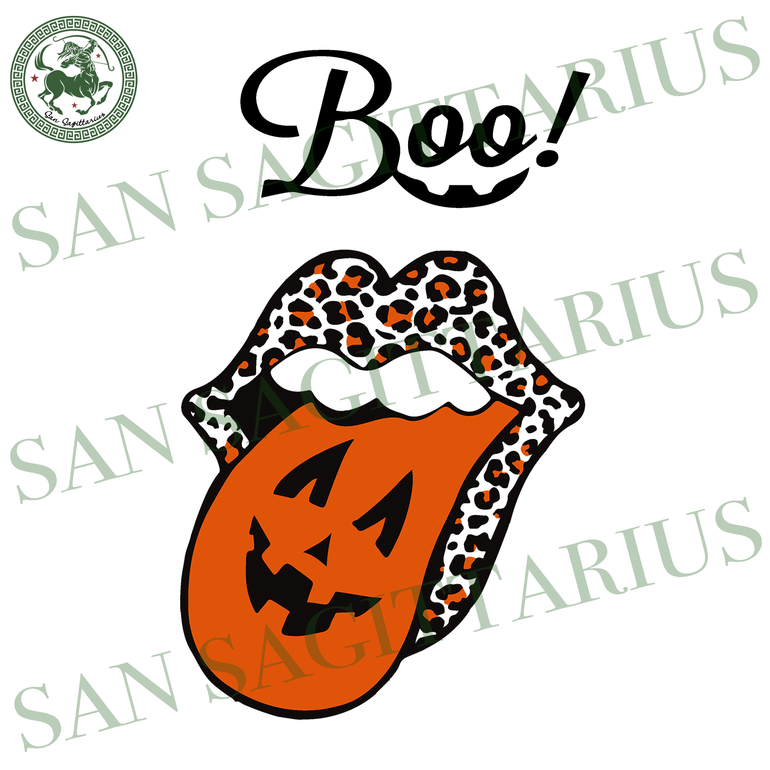 Boo, Halloween Svg, Boo Svg, Lip Svg, Kiss Lips Svg, Tongue Svg, Leopard Tongue Svg, Lip With Tongue Svg, Pumpkin Svg, Pumpkin Face Svg, Happy Halloween, Halloween Shirt, Halloween Gift Boo S