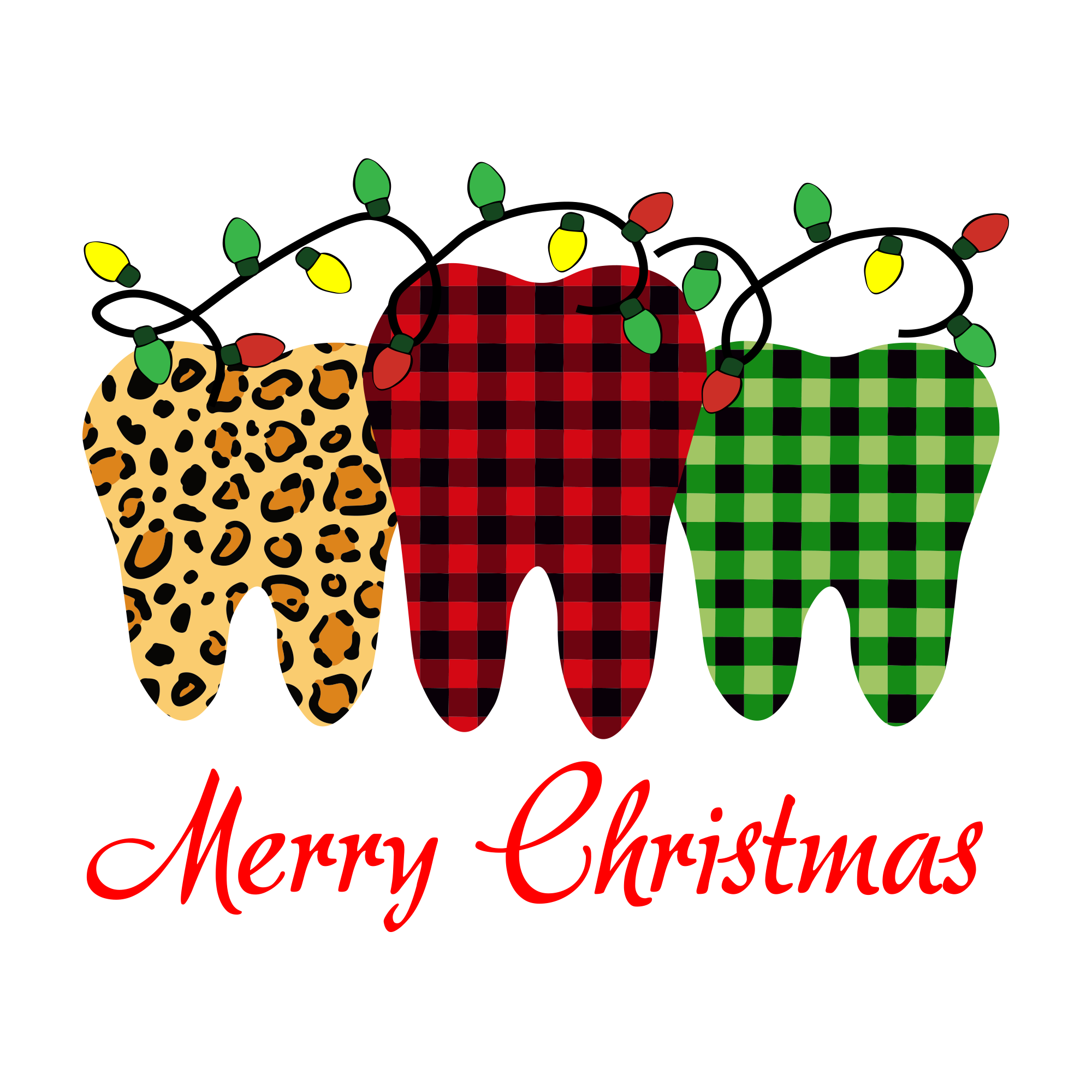 Three Teeth Merry Christmas, Christmas Svg, Leopard Teeth, Patern Teeth, Christmas Svg, Christmas Gifts, Merry Christmas, Christmas Holiday, Christmas Party, Funny Christmas, Xmas Gift, Chris