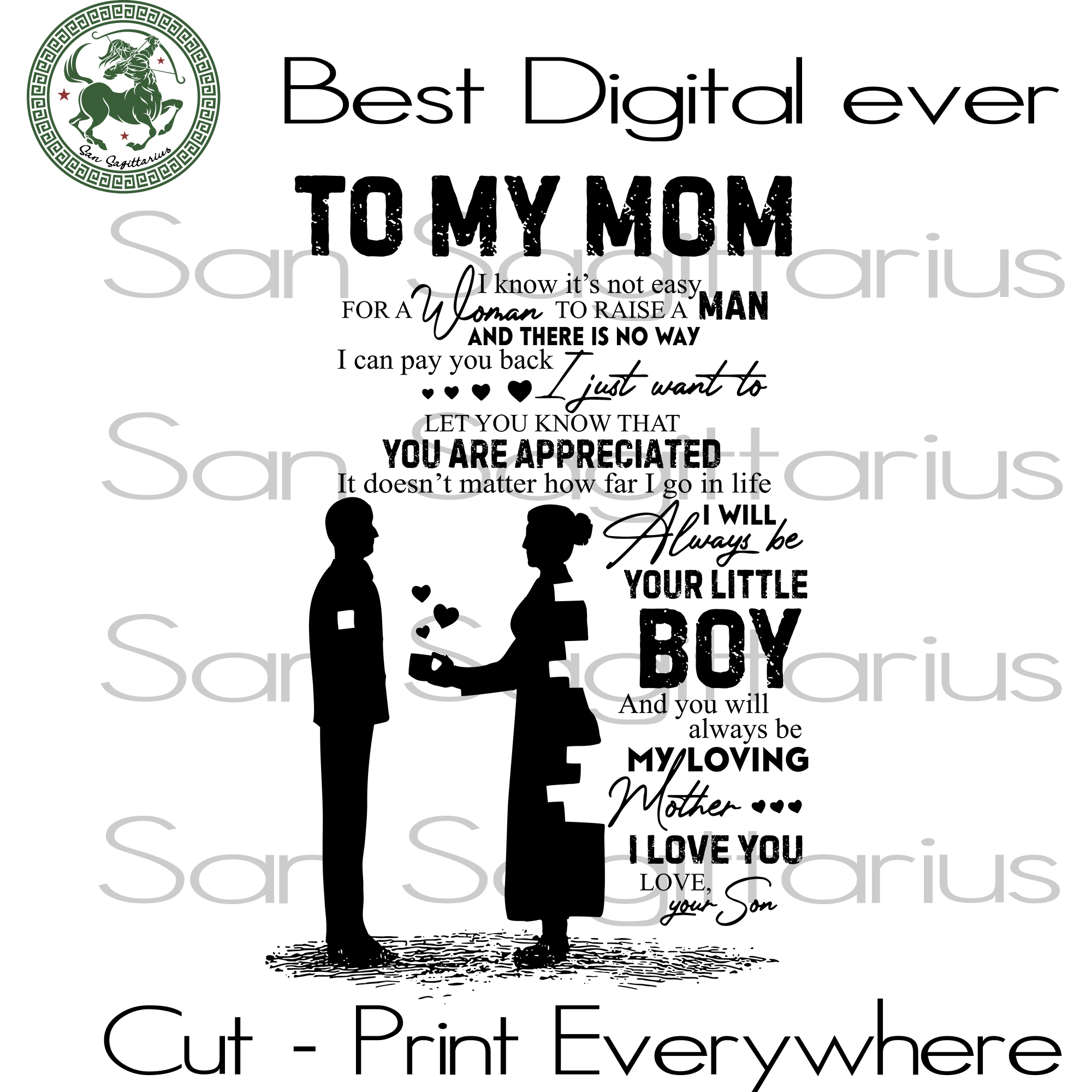 Mom Shirt PNG, Mother's Day Gifts Idea, Mom Birthday PNG Files For Silhouette Instant Download | San Sagittarius