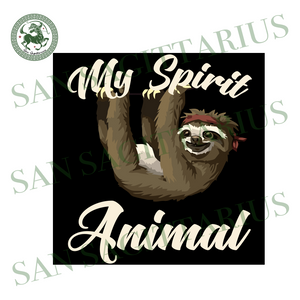 My Spirit Animal Sloth Svg,Sloth Love Svg,Funny Cute Girly Sloth,Cute Sloth Svg, Sloth with Flowers Svg,Lover Animal Svg,Funny Sloth SVG, Animals Vector, Sloth Running Team SVG