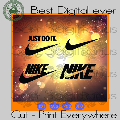 Nike Logo Branch Just Do It Fashion Boys Girls Best Gift SVG Files For Cricut Silhouette Instant Download | San Sagittarius