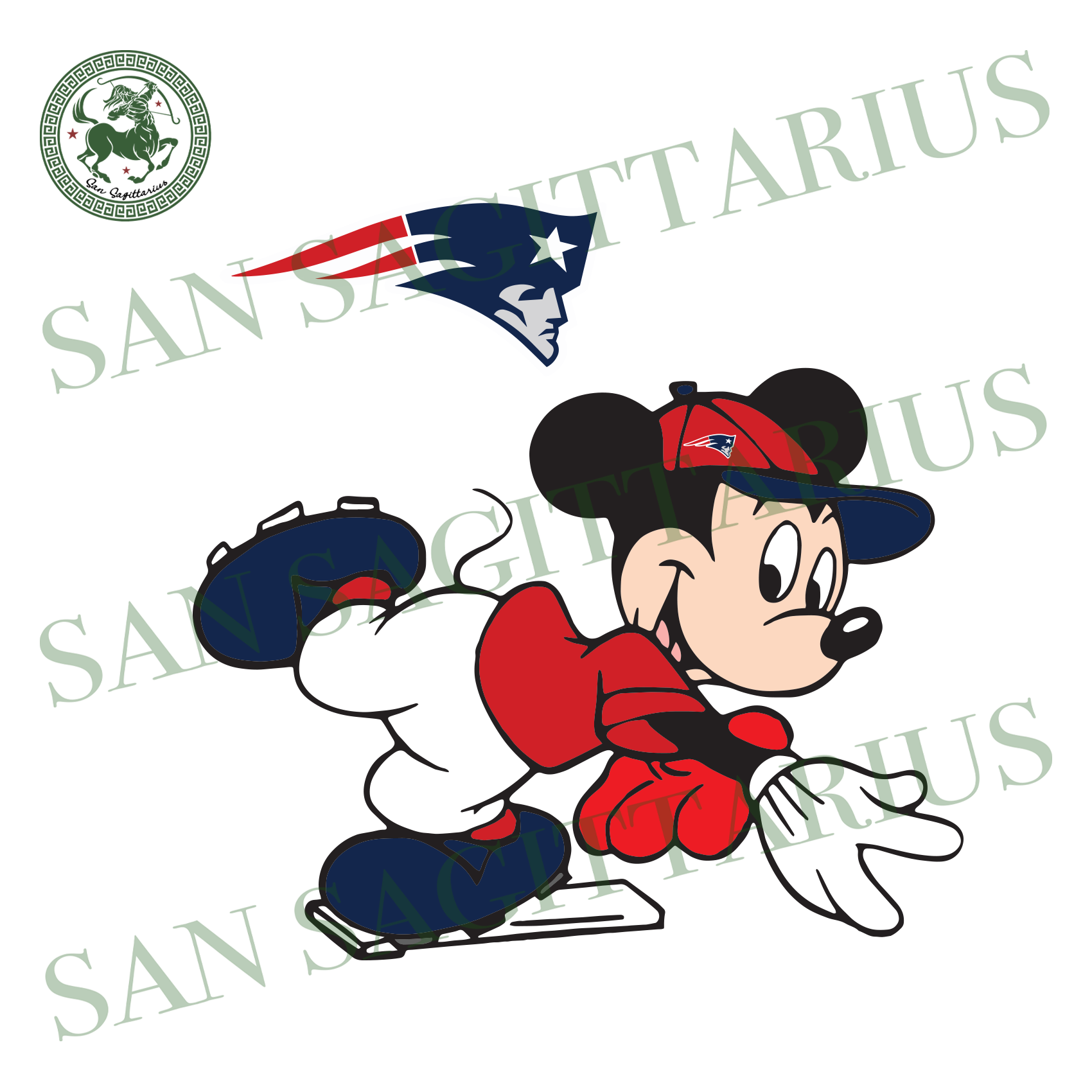 New England Patriots Logo With Mickey, Sport Svg, NFL Football Svg, NFL Svg, NFL Sport, New England Patriots Svg, New England Patriots, New England Patriots NFL Lover, Patriots NFL Svg, Footb