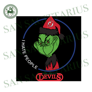 New Jersey Devils Logo, Sport Svg, New Jersey Devils Svg, NHL Svg, Grinch Svg, NHL Logo, New Jersey Devils Hockey, NHL Sport, Hockey Svg, Hockey Logo, Grinch Lovers, Grinch Gift, Green Grinch