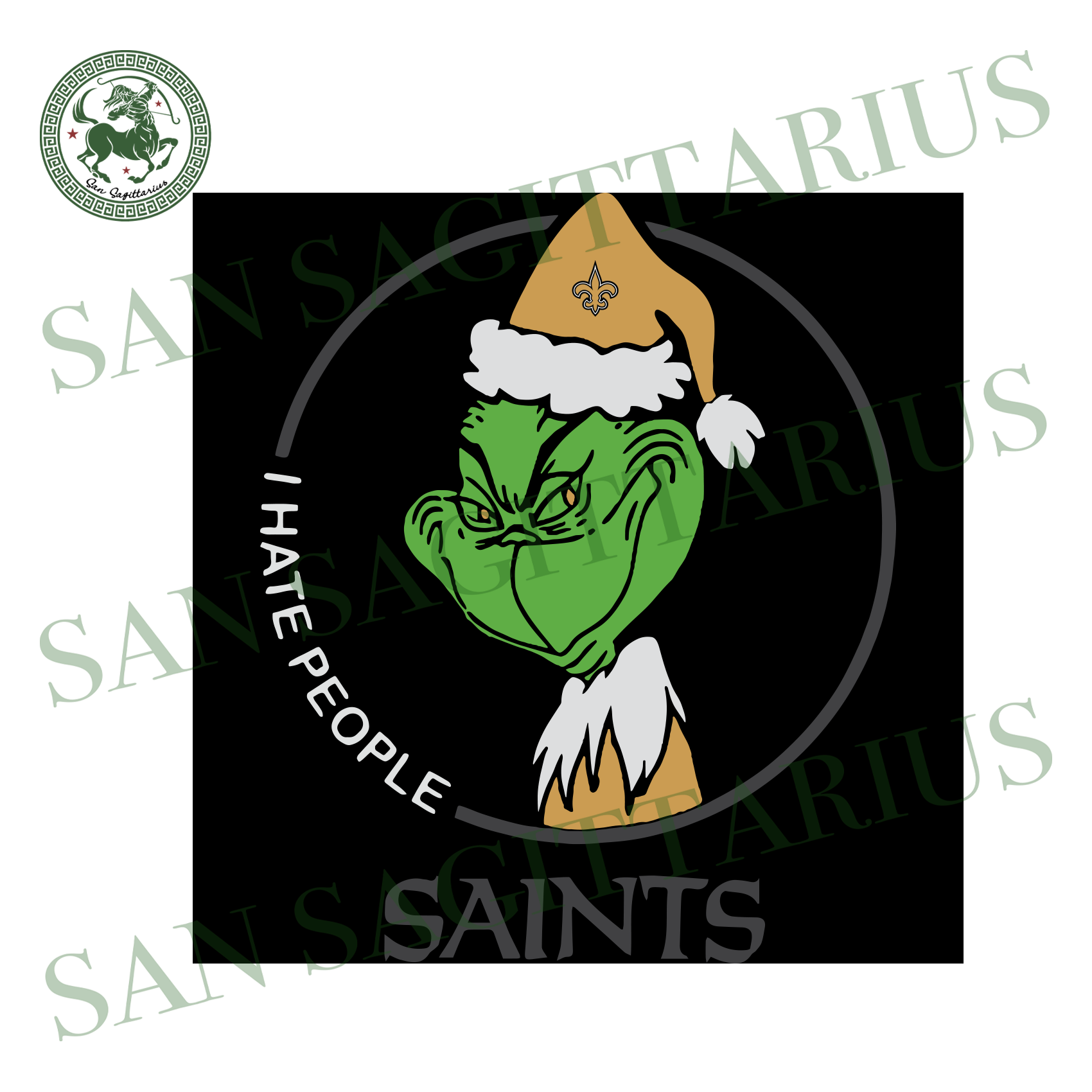 New Orleans Saints Logo With Grinch, Sport Svg, NFL Football Svg, NFL Svg, NFL Sport, New Orleans Saints Svg, New Orleans Saints, New Orleans Saints NFL Lover, New Orleans Saints NFL Svg