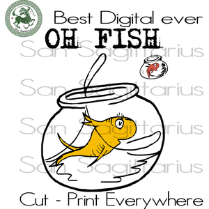 Yellow Fish, One Fish Two Fish, Red Fish Blue Fish Dr Seuss Svg, Dr Seuss svg, Cat in hat, Lorax,Thing one thing two SVG Files For Cricut Silhouette Instant Download | San Sagittarius