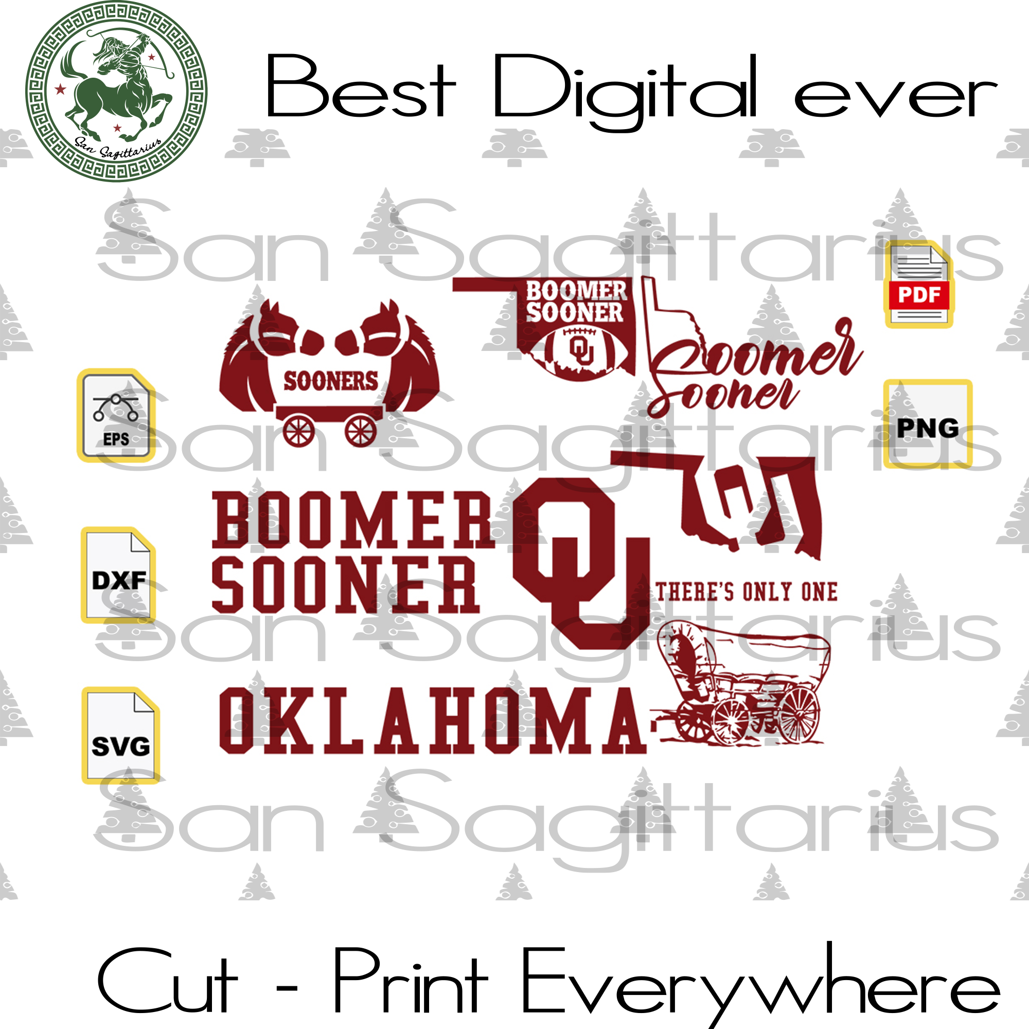 Love Oklahoma State bundle SVG Files For Silhouette, Cricut Files, SVG DXF EPS PNG Instant Download