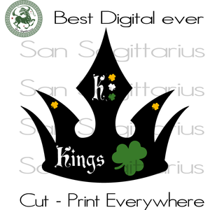 Happy Patrick's Day, Patricks King Svg, Three Leaves Clover, Gift For Man SVG Files For Cricut Silhouette Instant Download | San Sagittarius