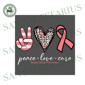 Peace Love Cure Pink Ribbon svg,Breast Cancer Awareness svg,Peace Love Cure svg,Awareness Ribbon svg, Cancer Ribbon svg, Cancer SVG, Breast Cancer svg