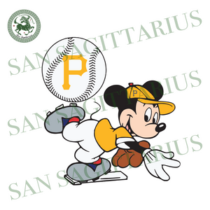 Pittsburgh Pirates And Mickey, Sport Svg, MLB Baseball Svg, MLB Svg, MLB Sport, Pittsburgh Pirates Svg, Pittsburgh Pirates Baseball, Mickey Svg, Mickey Sport, Pittsburgh Pirates Logo, Basebal
