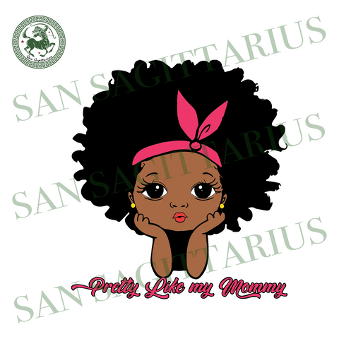 Pretty Like My Mommy,Peekaboo Svg,Peekaboo Girl Svg,Cute Black African American, Juneteenth Gift,Independence Day Svg,Black African Girl,History Svg,African American,Afro Girl,Juneteenth Svg,