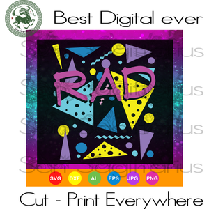 Rad 1980s Vintage Eighties Costume Party, Vintage 1980s Party, 80s Birthday, Awesome Since 1980,1980 Vintage, Born In 1980,Since 1980 Svg, Birthday In 1980, Vintage 1980, 1980 Vintage, 1980 S