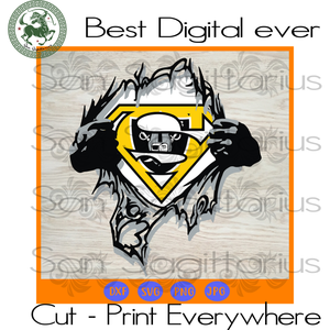Oakland Raiders NFL Logo Superman SVG Files For Cricut Silhouette Instant Download | San Sagittarius