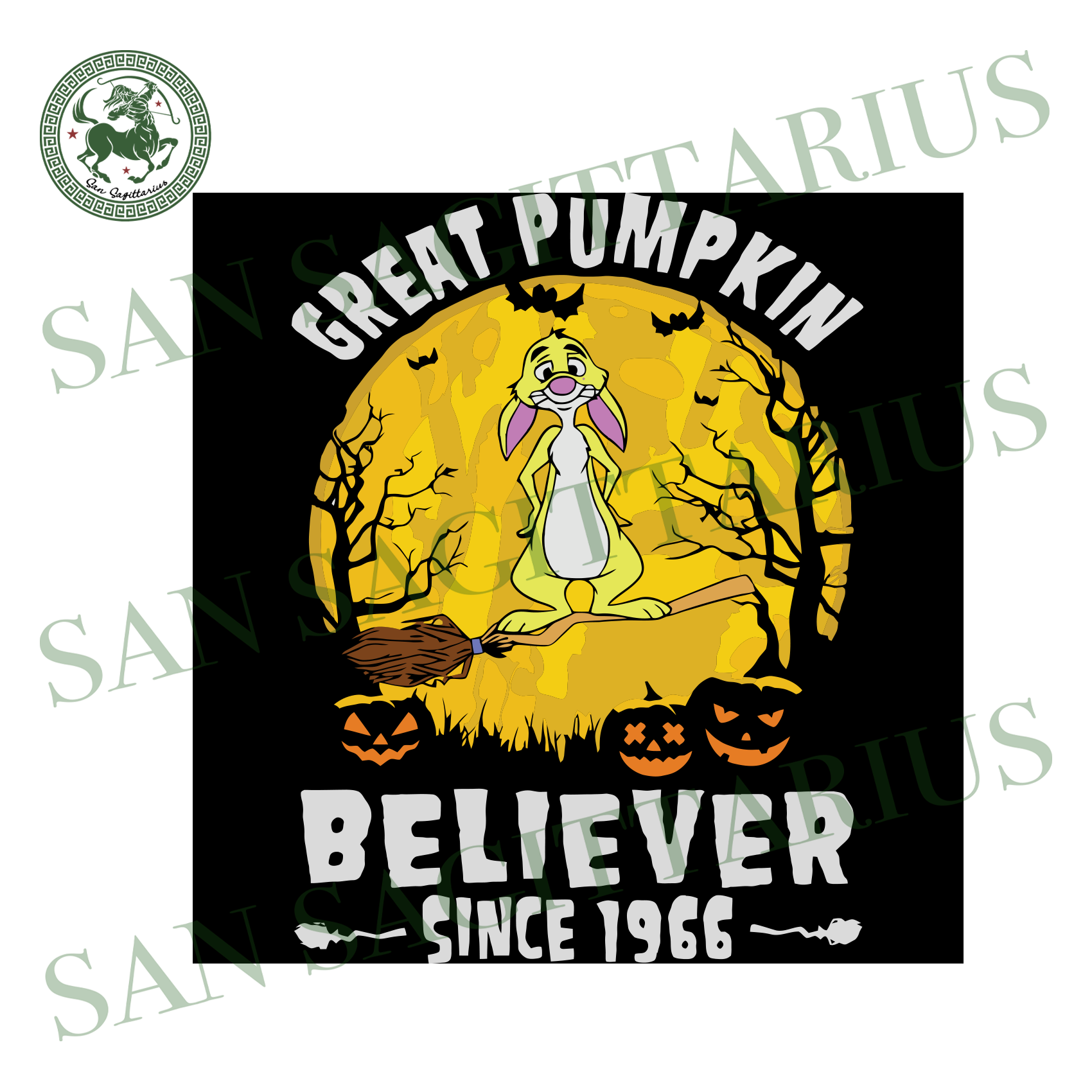 Rabbit Great Pumpkin Believer Since 1966, Halloween Svg, Happy Halloween, Halloween Gift, Halloween Day, Pumpkin Svg, Funny Rabbit, Rabbit Svg, Cute Rabbit, Disney Svg, Disney Character, Love