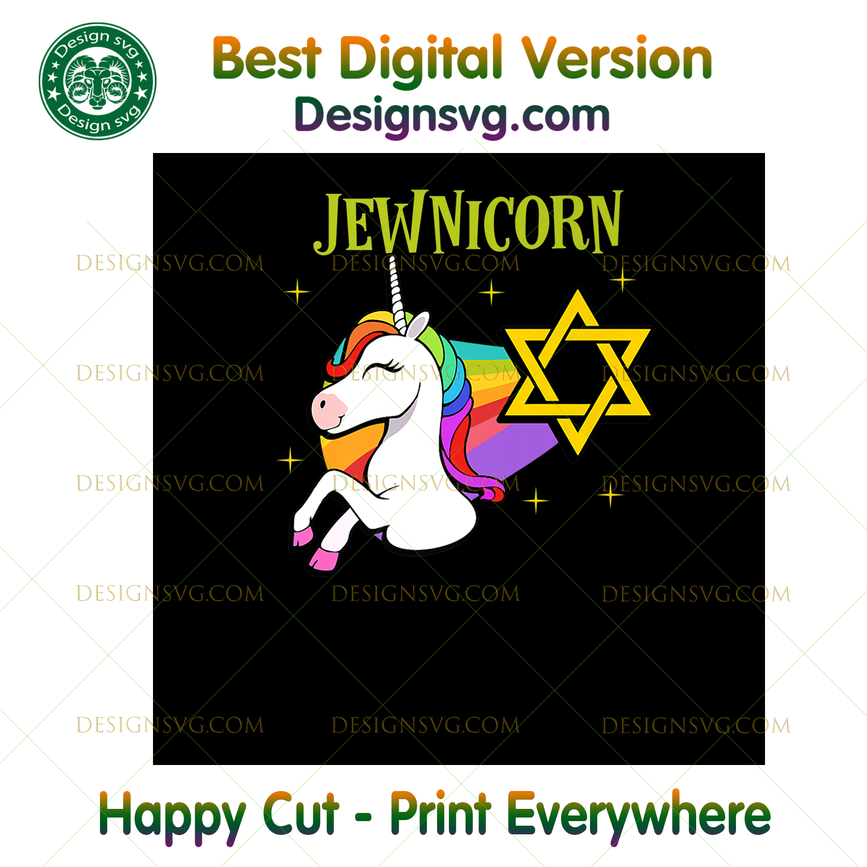 Rainbow Unicorn T- Halloween Costume Hanukkah Gift,Halloween png, Halloween shirt, Halloween Decor, Halloween Party, Halloween Design, Halloween Sublimation, Halloween Silhouette Files
