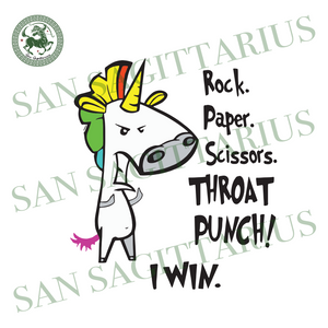 Rock Paper Scissors Throat Punch I Win, Trending Svg, Unicorn Svg, Cute Unicorn, Funny Unicorn, Unicorn Game, Unicorn Design, Scissors Svg, Rock Svg, Paper Svg, Love Unicorn, Angry Unicorn