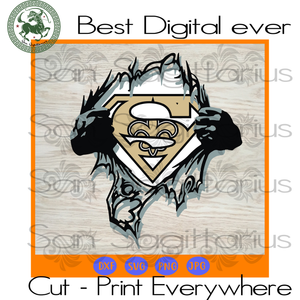 New Orleans Saints NFL Logo Superman SVG Files For Cricut Silhouette Instant Download | San Sagittarius