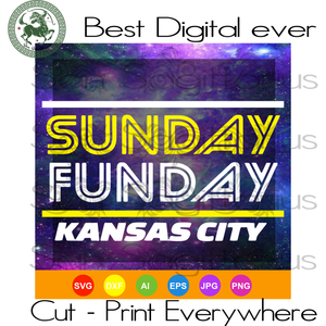 Sunday Funday KC Football svg, KC Chiefs, Kansas City Chiefs, NFL Football SVG Files For Cricut Silhouette Instant Download | San Sagittarius