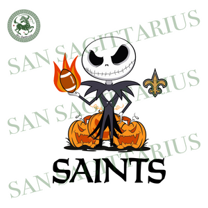 Saints NFL, Halloween Svg, Halloween Svg, Happy Halloween, Halloween Gift, Halloween Shirt, Halloween Icon, Halloween Vector, Saints Svg, Saints Basketball Team, Nightmare Svg, Nightmare Man,