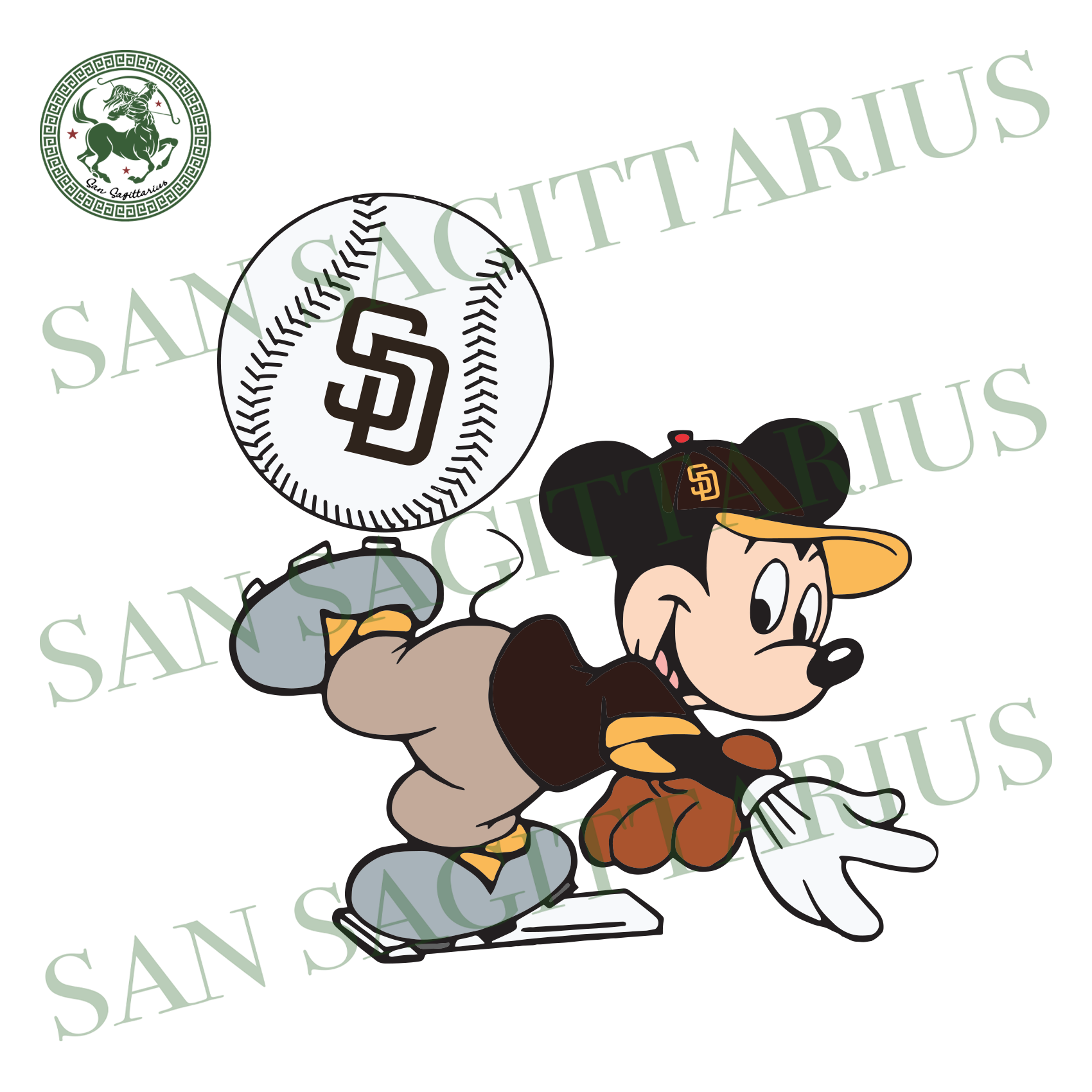 San Diego Padres And Mickey, Sport Svg, MLB Baseball Svg, MLB Svg, MLB Sport, San Diego Padres Svg, San Diego Padres Baseball, Mickey Svg, Mickey Sport, Padres Fan, Padres Logo, Baseball Svg