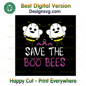 Save The Boo Bees Funny Breast Cancer Awareness Halloween ,Halloween png, Halloween shirt, Halloween Decor, Halloween Party, Halloween Design, Halloween Sublimation, Halloween Silhouette File
