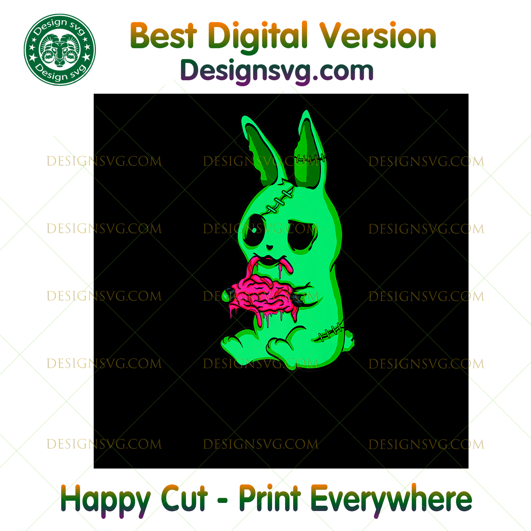 Scary HALLOWEEN - Easter Bunny Zombie T- Rabbit,Halloween png, Halloween shirt, Halloween Decor, Halloween Party, Halloween Design, Halloween Sublimation, Halloween Silhouette Files