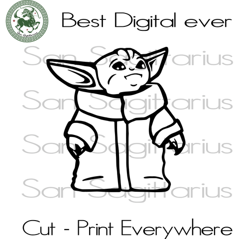 Baby Yoda Star Wars Lover SVG Files For Silhouette Cricut Files Instant Download | San Sagittarius