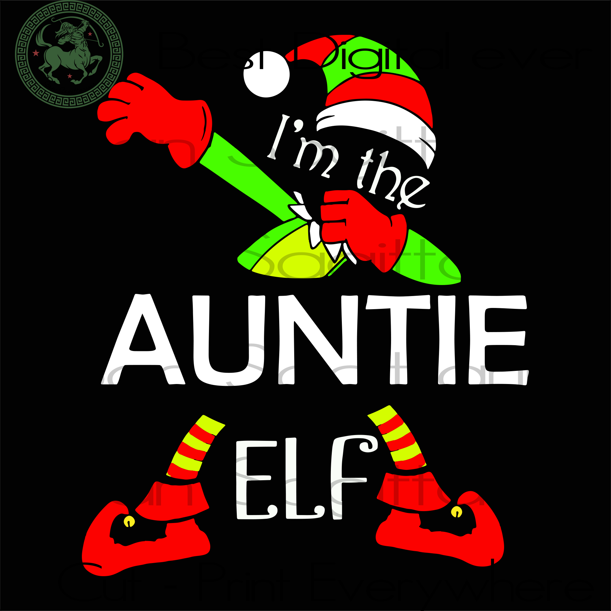 I'm The Auntie ELF, Christmas Svg, Christmas Gifts, Merry Christmas, Christmas Holiday, Christmas Party, Funny Christmas, Xmas Gift, Christmas Gift Ideas, Merry Christmas Svg, Holidays, Chris