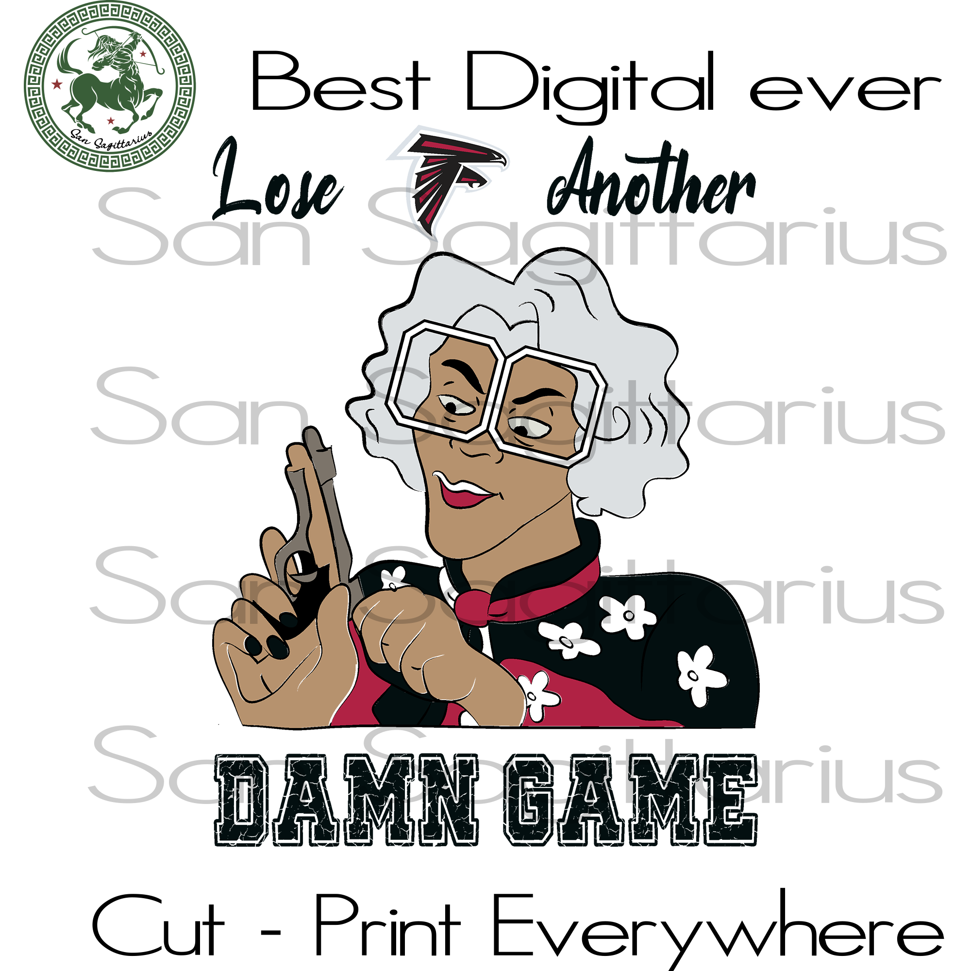 Madea Falcons SVG Files For Silhouette, Cricut Files, SVG DXF EPS PNG Instant Download
