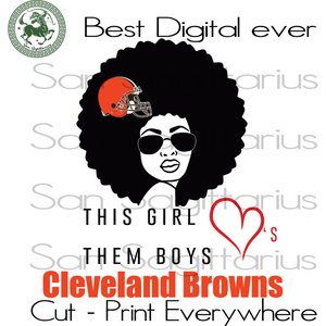 Cleveland Browns Melanin Girl SVG Files For Cricut Silhouette Instant Download | San Sagittarius