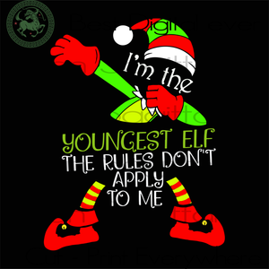 I'm The Youngest ELF, Christmas Svg, Christmas Gifts, Merry Christmas, Christmas Holiday, Christmas Party, Funny Christmas, Xmas Gift, Christmas Gift Ideas, Merry Christmas Svg, Holidays, Chr