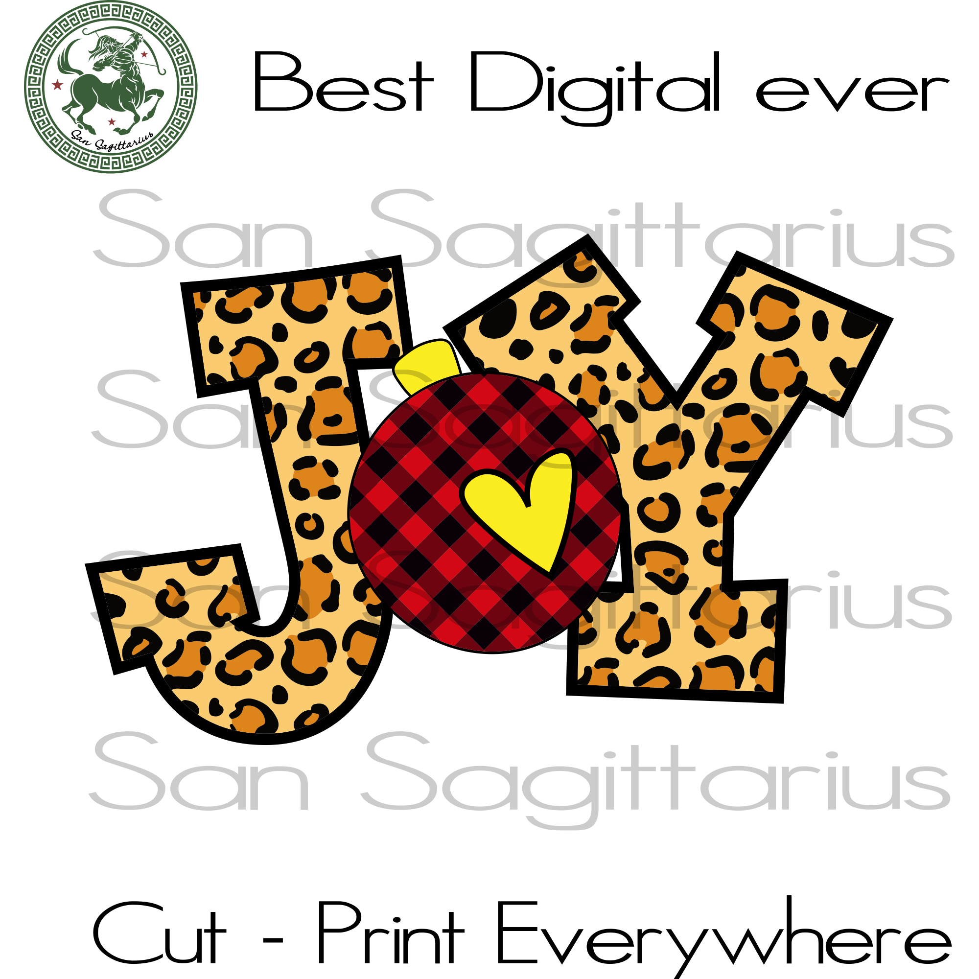 Joy leopard and plaid swatch ornament, christmas svg, christmas gift, christmas shirt, santa svg, buffalo plaid, christmas design, christmas, merry christmas, christmas design