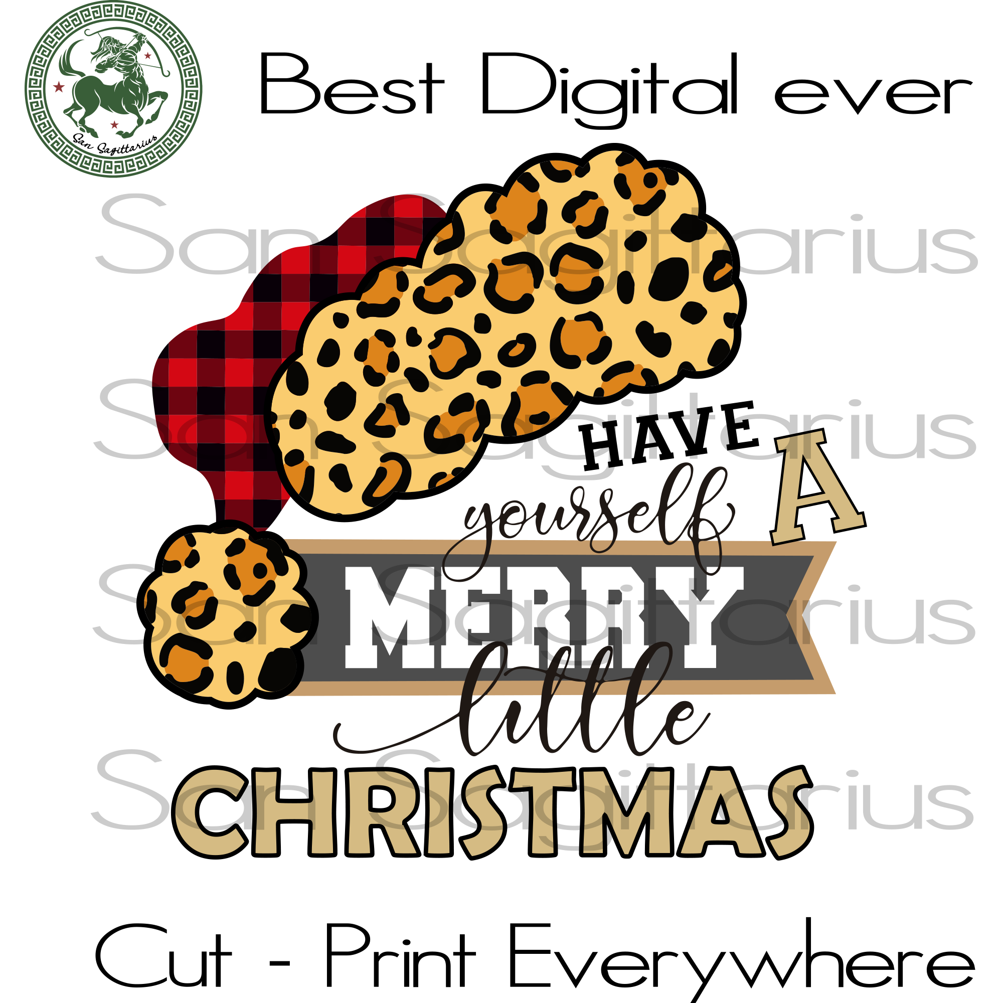Have yourself a merry little christmas SVG Files For Silhouette, Cricut Files, SVG DXF EPS PNG Instant Download