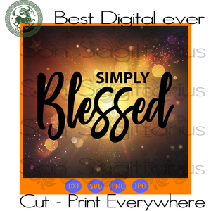 Simple Blessed Mom Christian Jesus Religious Praying Best Gift SVG Files For Cricut Silhouette Instant Download | San Sagittarius