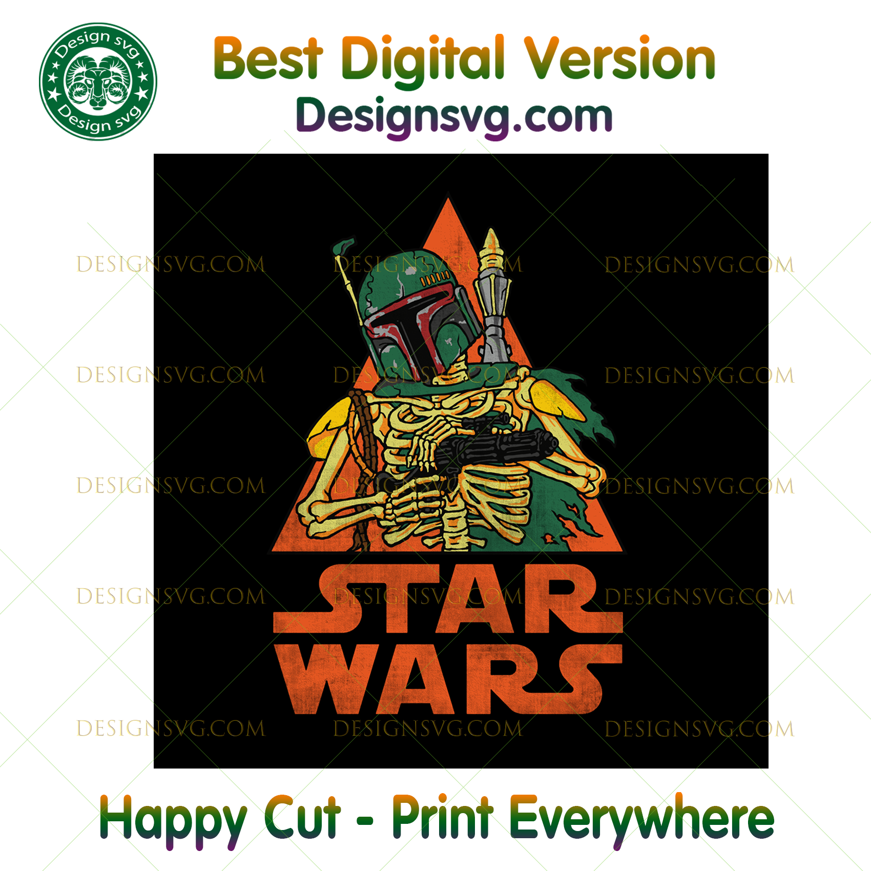 Star Wars Boba Fett Skeleton Halloween Costume ,Halloween png, Halloween shirt, Halloween Decor, Halloween Party, Halloween Design, Halloween Sublimation, Halloween Silhouette Files