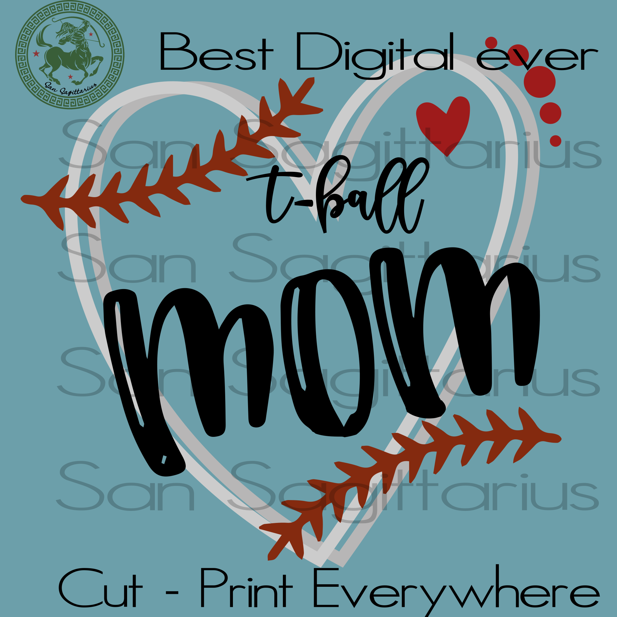 T-ball mom gift, Sport Mom Gift Svg, Mom Shirt Svg, t ball Vector Clipart Svg, Birthday mom, Mothers Day, Dr Seuss Cut File, Birthday Customized, t-ball SVG Files For Silhouette Instant Download | San Sagittarius