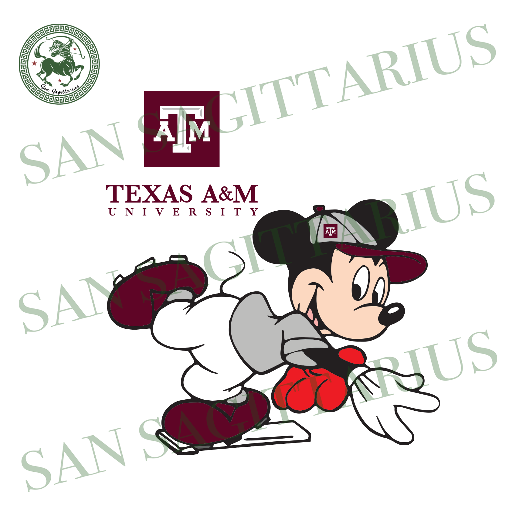 Texas A&M And Mickey, Sport Svg, Texas A&M Svg, Football Svg, Texas A&M Shirt, Texas A&M Logo, NCAA Sport Svg, NCAA Svg, Texas A&M University Svg, Mickey Svg, Mickey Love, Mickey Shirt