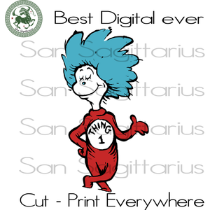Thing 1 Svg,  Thing one Svg, Dr Seuss Svg, Dr Seuss cut files, Clipart, Eps Vectors, Dxf files for cricut, Cutting Machines, Svg Files For Cricut Silhouette Instant Download | San Sagittarius