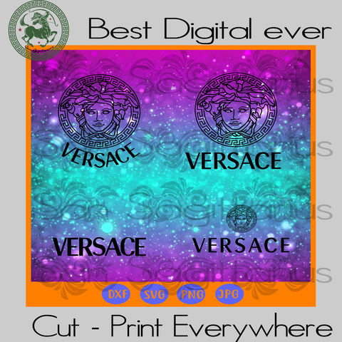 Gianni Versace Logo Branch Fashion SVG Files For Cricut Silhouette Instant Download | San Sagittarius