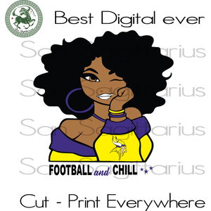 Minnesota vikings be all the vogue  SVG Files For Silhouette, Cricut Files, SVG DXF EPS PNG Instant Download