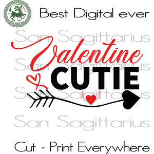 Gift For Cutie Svg, Valentines Day Cut File, Valentines Day Gift Svg, Valentine Saying Cricut, Wife Gift SVG Files For Cricut Silhouette Instant Download | San Sagittarius
