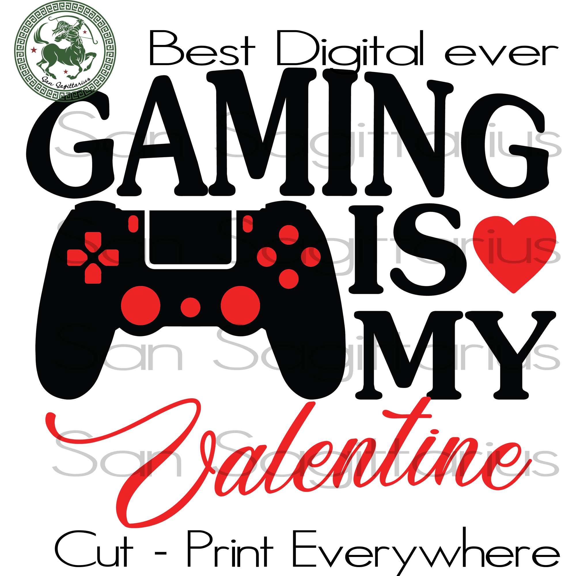 Gaming Is MY Valentine Svg, Gamer Gift Svg, Game Player Cut File, Valentines Day Personalized, Valentines Day Gift Customized, Valentine Saying Cricut, Mom dad Mimi Valentines Day Gift Svg SVG Files For Cricut Silhouette Instant Download | San Sagittarius