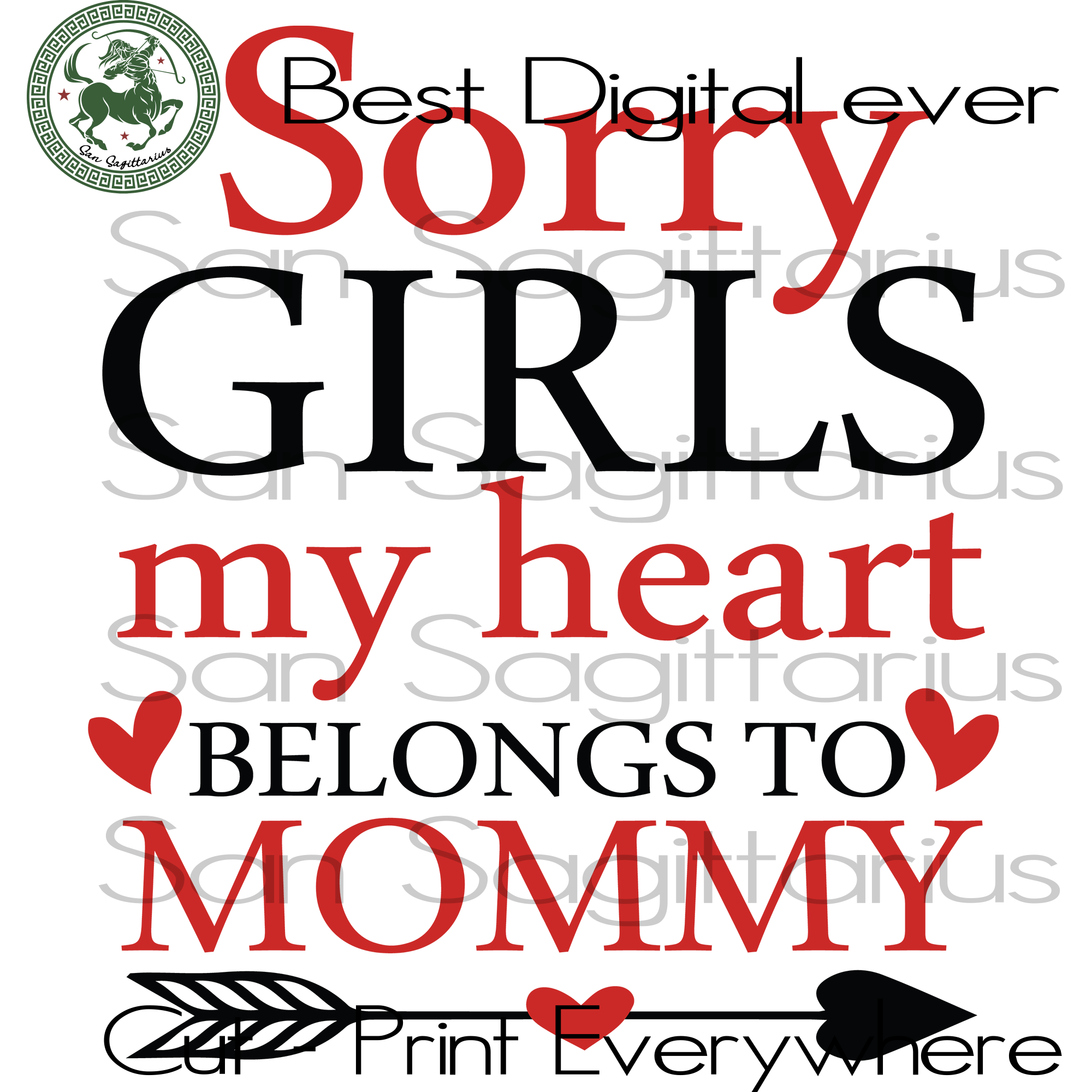Valentine Gift For Mom Svg, Valentine's Day Cut File, Mommy Valentine, Mommy Gift Svg, Mommy SVG Files For Cricut Silhouette Instant Download | San Sagittarius