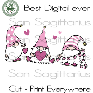 Gnome Valentines Day Svg, Valentines Day Cut Files, Gnome Valentine Silhouette, Lover Gift Svg, Cute Gnome SVG Files For Cricut Silhouette Instant Download | San Sagittarius