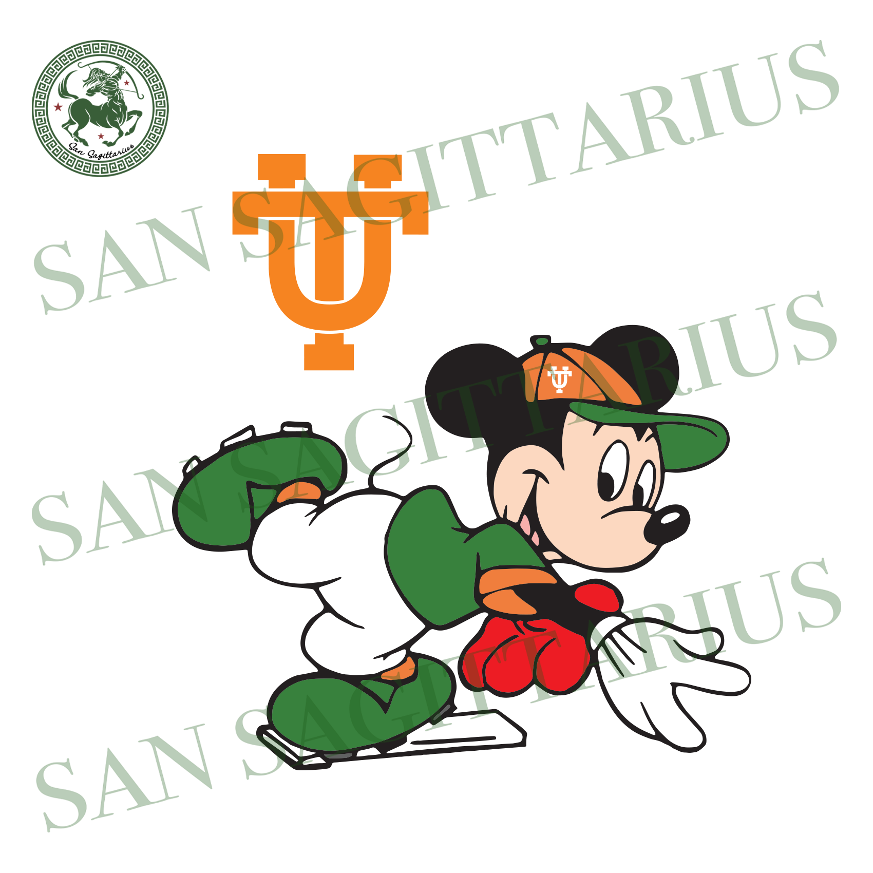 Vintage University Of Tennessee And Mickey, Sport Svg, Vintage University Of Tennessee Svg, NCAA Sport Svg, NCAA Svg , Football Svg, Vintage University Of Tennessee Logo, Mickey Svg