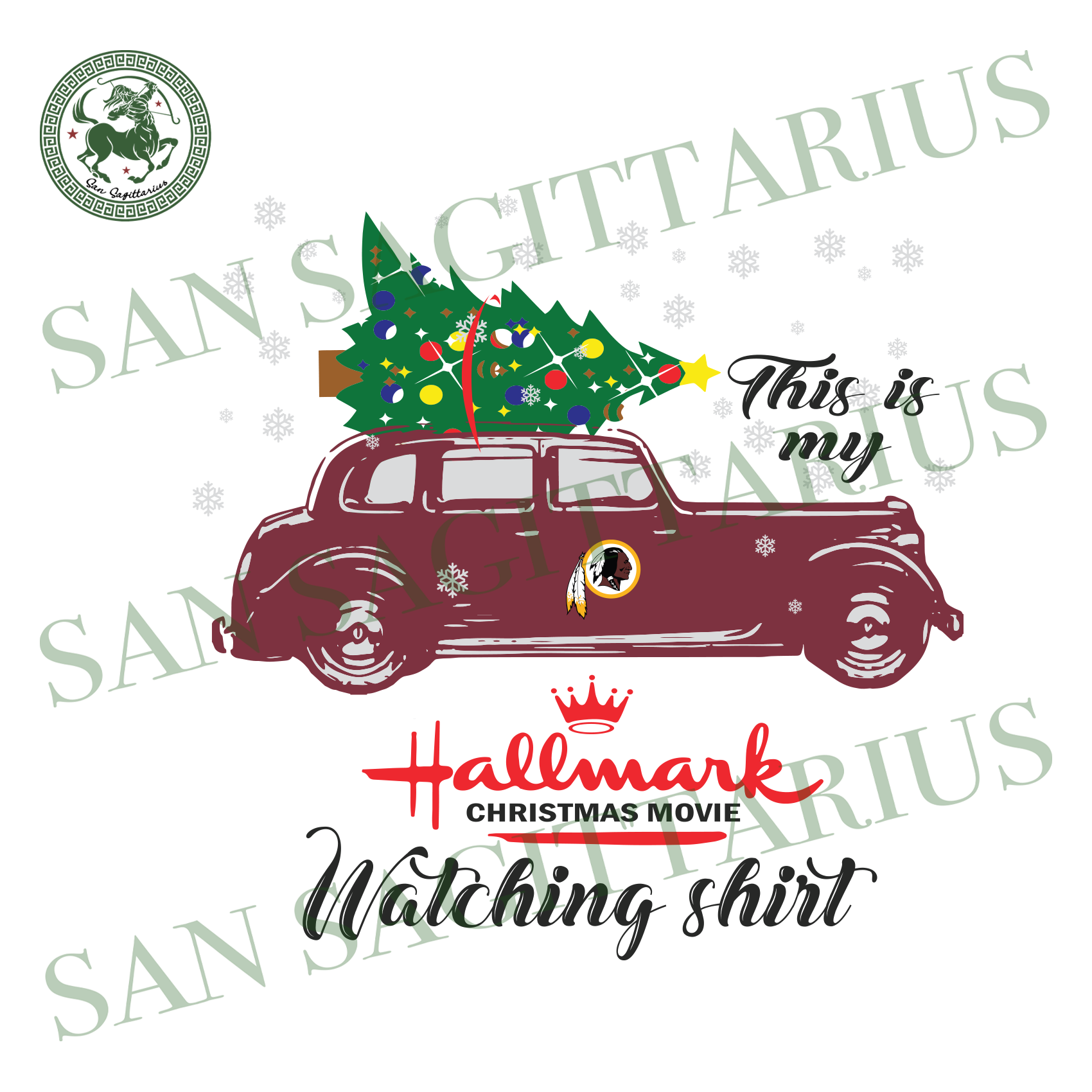 Washington NFL Football This Is My Hallmark Christmas Movie Watching Shirt, Sport Svg, Christmas Svg, Washington NFL Sport Svg, Washington Redskins NFL Svg, Football Svg, Football Shirt