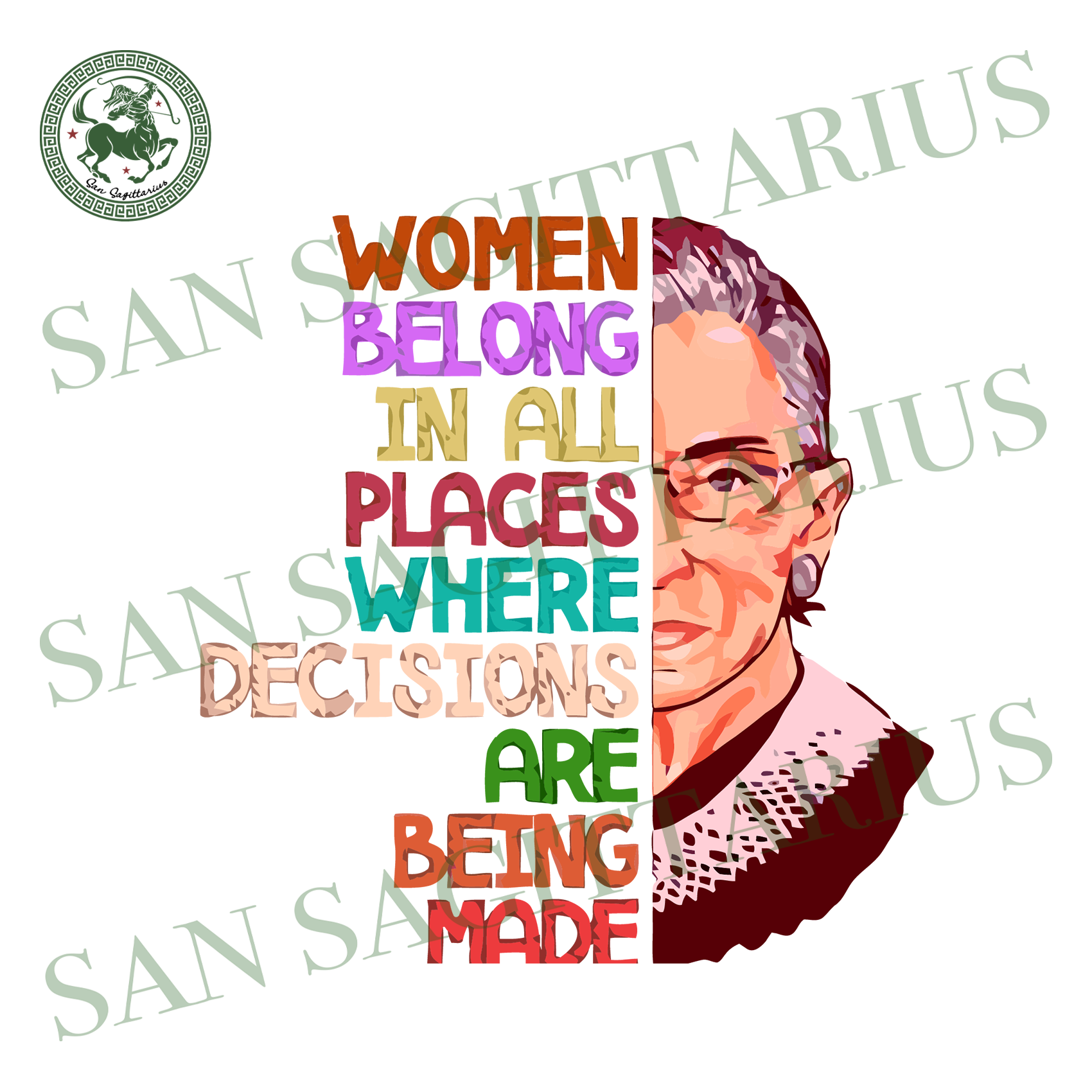 Women Belong In All Places Svg,Decisions Are Being Made Svg,Womens Political Gifts,Vintage Ruth Bader Ginsburg Svg,Human Rights, Queen Crown Supreme Court,Trending 2020 Svg