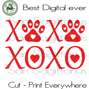 XOXO Dog Lover Valentine Gift Svg, Valentine's Day Cut File, Dog Mom Valentine Saying, Mommy Gift Svg, Dog Owner SVG Files For Cricut Silhouette Instant Download | San Sagittarius